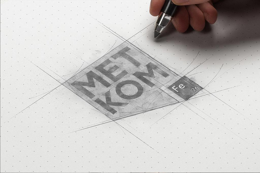 Разработка эскиза логотипа в студии Андрея Мельникова
